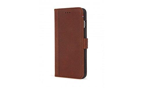 DECODED Wallet Case en Cuir pour iPhone 7 Plus Noir Marron