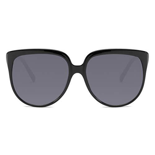 Darringls Unisex Mode Mann Frau unregelmäßige Form Sonnenbrille Brille Retro-Vintage-Stil polarisierte treibende Sonnenbrille (Schwarz, One Size)