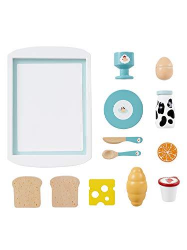 Vertbaudet Frühstück-Set aus Holz für Kinder Mehrfarbig ONE Size - Holz-frühstücks-set