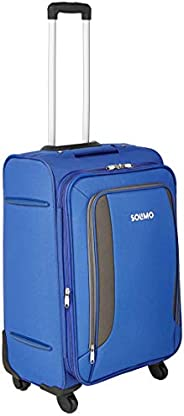 Amazon Brand - Solimo 58 cm Blue Softsided Cabin Suitcase with Wheels