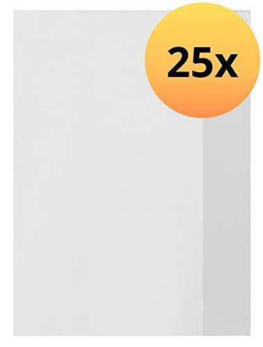 ELBA 100420072 Heft-Hüllen 25 Stück DIN A4 transparent, Heft-Umschlag flexibel & abwischbar, Buch-Schoner mit Einband, Schutz-Hülle für Arbeits- & Schulhefte