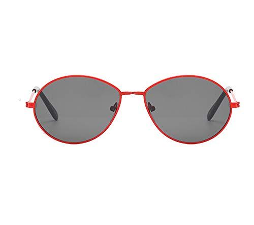 Aienid Sonnenbrille Damen Pc Runden Rot Schwarz Sonnenbrille Für Frauen