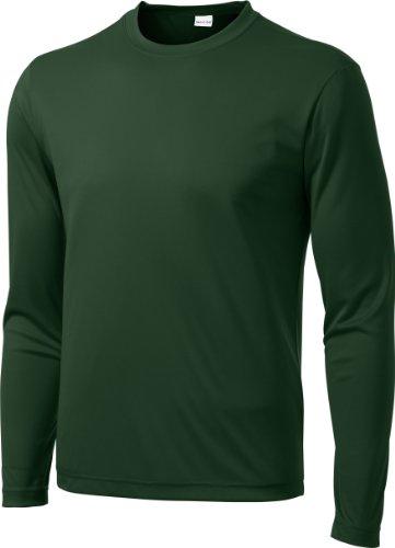 Sport-Tek Herren Asymmetrischer Langarmshirt Grün - Waldgrün