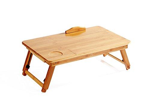 freequeen tragbar Bambus faltbar Laptop Desk Notebook-verstellbar Höhe Tablett Tisch Bett Tisch mit Schublade