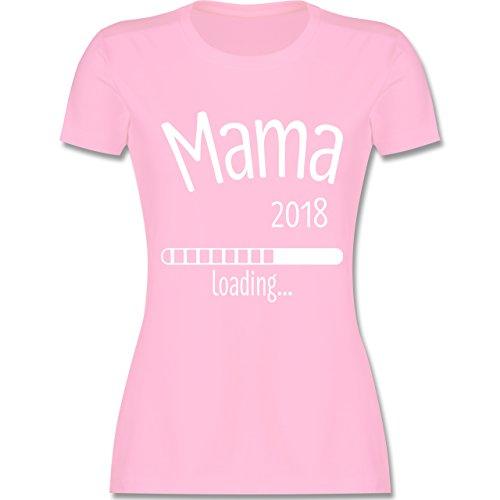 Schwangerschaft - Mama 2018 loading - tailliertes Premium T-Shirt mit Rundhalsausschnitt für Damen Rosa