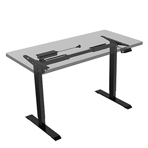Flexispot E1B Höhenverstellbarer Schreibtisch Elektrisch höhenverstellbares Tischgestell 2-Fach-Teleskop, mit Memory-Steuerung (Schwarz) -