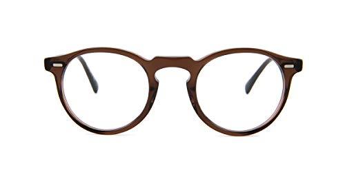 Oliver Peoples Gregory Peck Brille, Braun/klare Gläser