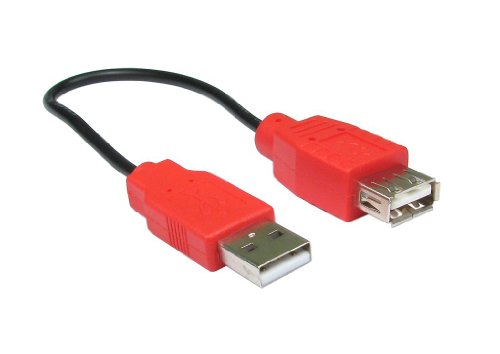 Strom Nur USB Ladekabel Kabel Verlängerung Anschlusskabel 20 cm - Amp-adapter-kabel