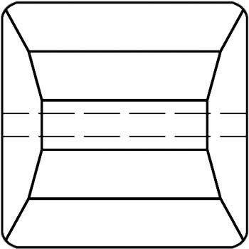 Original Swarovski Elements Beads 5624 MM10,0 - Jet (280) ; Packing Unit: 108 pcs. Jet (280)