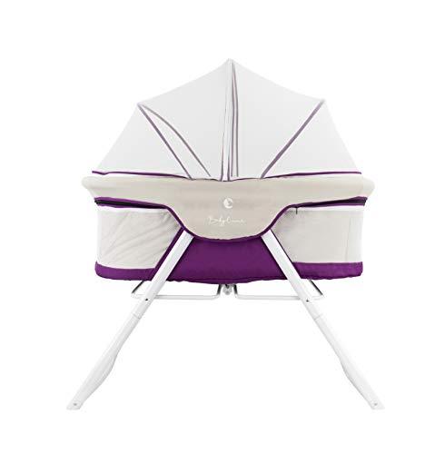 Cuna de viaje plegable con mosquitera y función balancín, têxtil transpirable y lavable Varios colores...