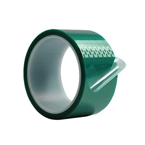 WJGJ Grün Durchsichtiges Klebeband, Maler Band Band High Temperature Green Tape Plating Circuit Board Einbrennlack- PET Farbe 33 Meter Lang (Farbe : Green, Size : 60mm×33cm)