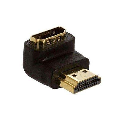 Vga-mann-zu-frau-kabel (MEIHE-Cables/Adapters Kabel und Adapter LWM TM HDMI-Anschluss-Gold überzogene Mann zu Frau Koppler 90 Grad rechtwinklig)