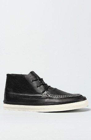 Vans  U Mesa Moc Ca, Bottines mixte adulte (Leather) Black/Marshmallow