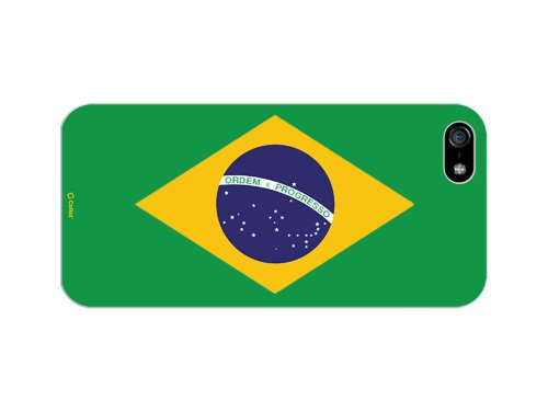 Cellet Proguard Fall mit Brasilien Flagge für Apple iPhone 5 - Weiß