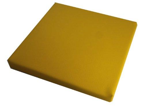 d & L medicaltechnolgies Stuhlkissen, Bankkissen, Dekokissen 40 x 40 cm Kunstleder (gelb) (Gelb Kunstleder)