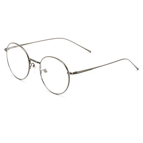 BJ-Gafas Männer und Frauen aus reinem Titan Anti-Blaue Brille Strahlenschutz Mode Brillengestelle