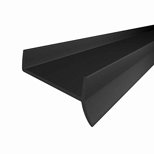 STEIGNER Küchenleiste Küchensockel DPD Abdichtungsprofil Sockel 18mm / 19mm Dichtung erneuern 1,5m Dichtprofil SCHWARZ
