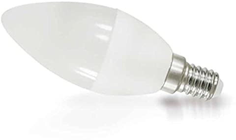 Ampoule LED Bougie 8W E14dy-c37Mat 200°–640LM–Blanc chaud (3000K)–Ne Scintille pas Driver IC