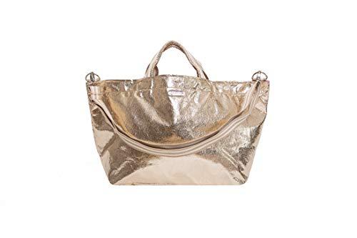 brasi&brasi Shopper Half&Stripe Glitter Zip Gold NEU!!NEU!!NEU!!