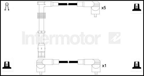 SPECTROMATIC 73860 Zündkabel-Kit, kompatibel mit Audi 90 Coupe 2.0 2.3 Motor NM 7A NG RR