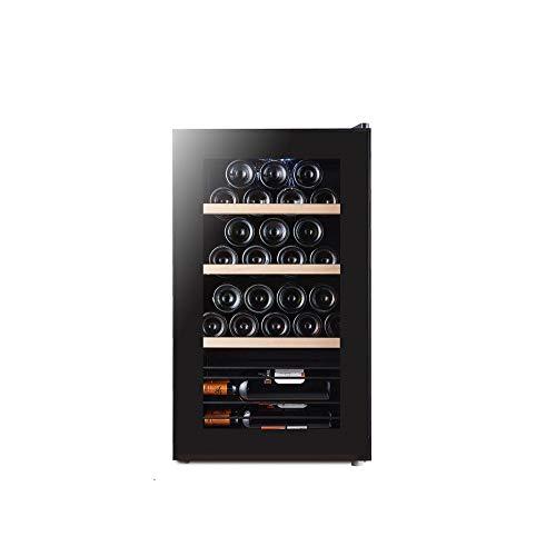 MSG ZY 32 Flaschen Weinkühler,LED-Touchscreen-Weinkeller, freistehender Weinkühlschrank, Zigarrenschrank, Feuchtigkeitsspender mit konstanter Temperatur von 360 ° - Mute-Weinkühler -