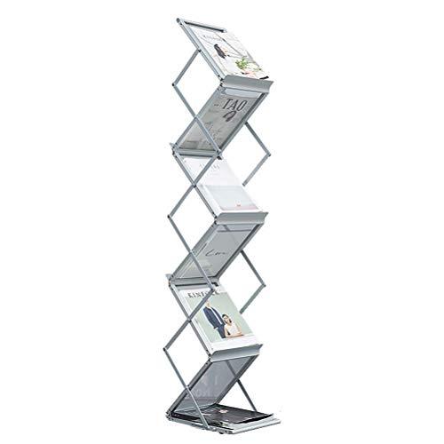 Dbtxwd Magazin Prospektständer, Prospektständer Prospektständer Alu-Kasten, Portable Pop Up 6 Klarsichttasche