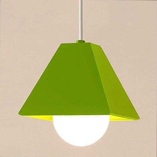 DGHDFH * Pendelleuchte Kronleuchter Vintage Retro Kreative Persönlichkeit Farbe Moderne Einzelne Bar Light Green 9 Watt Led 17 cm Restaurant Dekoration ●