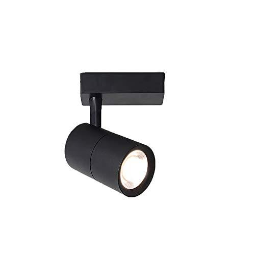 Aione Scheinwerfer-LED-Schienenbeleuchtung energiesparende Hochleistungs-LED-Schienenlampe für Hotelfachgeschäft cool weiß-schwarz [Energieeffizienzklasse A],Black,6000K/40W - Flush-mount-schiene