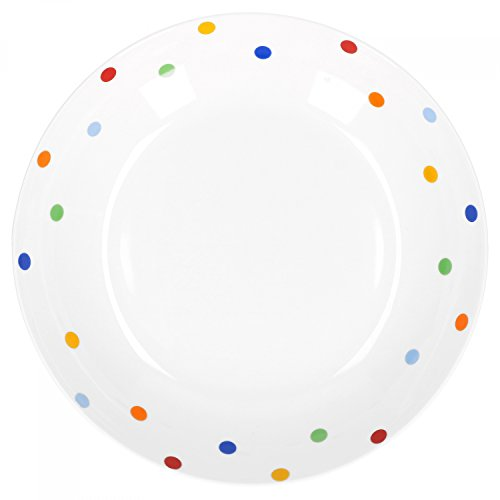 Van Well Porzellan Geschirr Serie Capri | weiß mit Dekor | Artikel wählbar, Service Serie Capri:Suppenteller 20.5cm