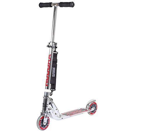 HUDORA Big Wheel Scooter 125 mm, Kinder Scooter - Kinder Roller, silber, 14200