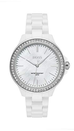 Hugo Boss Womens Analogue Classic Quartz Watch with Ceramic Strap 1502454