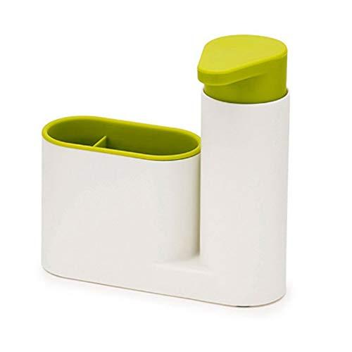 PURATEN - Dispensador de jabón de jabón, multifunción, contenedor de baño, Compacto, Soporte de jabón, Caja de jabón, Accesorios de baño de Cocina para el hogar