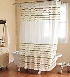 sq charlotte cm kr uselband baumwolle duschvorhang elfenbeinfarben k che. Black Bedroom Furniture Sets. Home Design Ideas