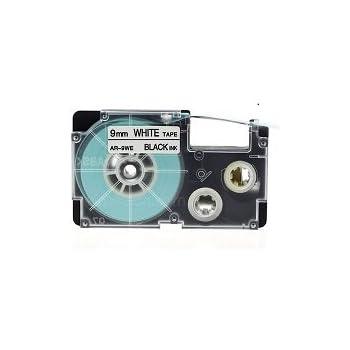 10x Schriftband kompatibel f/ür Casio XR-9WE Schwarz auf Wei/ß 9mm x 8m f/ür Casio/KL-60 70E 100 100E 120 200 200E 300 750 780 820 2000 7000 7200 7400 8100 8200 P1000 C500 L300
