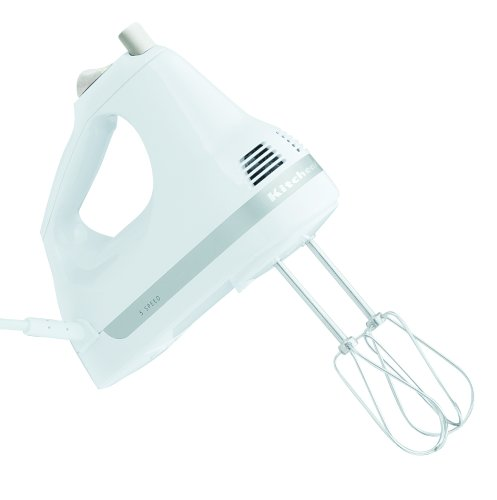 Kitchenaid KHM5APWH 5-Ultra Speed Power Mixer Hand, Weiß