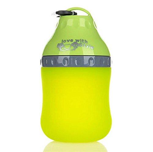 5ivepets Trinkflasche für Hunde,400ML beweglicher Haustier Hund Katze Trinknapf faltbare Reise-Trink Feeder Hund Wasserflasche