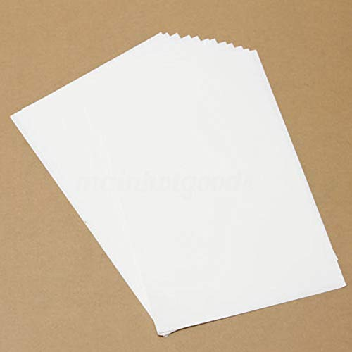 Papier 10pcs Heat Transfer Printing A4 T-Shirt für Eisen-Tintenstrahldrucker Light Color Light Fabric