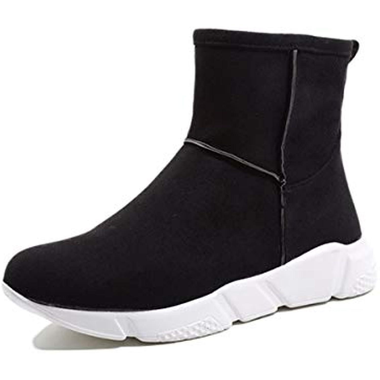 HBDLH Chaussures pour Étudiants Femmes/Martin Bottes Automne Bottes Plat Unique Occasionnels Étudiants pour De Talons Glacé À... - B07JWBGP1C - e7868e
