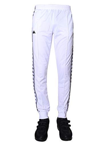 Kappa Banda Rastoria Slim Fit Track Pants | White/Black