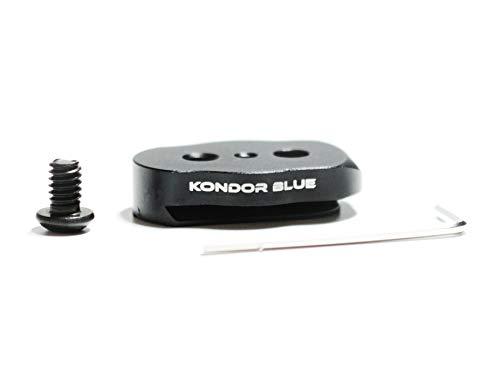 Kondor Mini-Schnellwechselplatte für LCD-Monitore, Magic Arm, LED-Licht, EVF-Halterungen, Monitor, Mikrofone, Recorder, Blitz, Gimbals mehr, Blau -