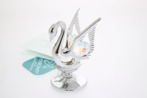 Crystocraft keepsake gift ornament - swan with swarvoski crystal elements by crystocraft