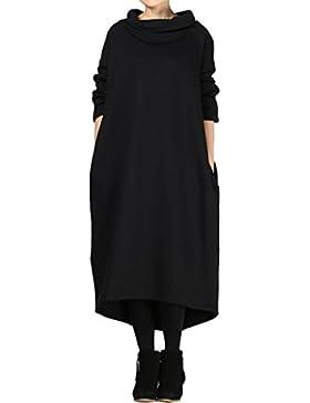 Vogstyle de las mujeres de largo sudadera con capucha color puro