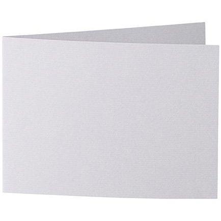 50 Stück // Artoz Serie 1001 Doppelkarten gerippt // Querdoppelt // DIN A6, 296 x 105mm, hochwertig, lichtgrau