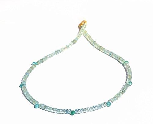 Fine Art Aquamarin Apatitt Tropfen Kette Gold 585 14 ct Geschenk