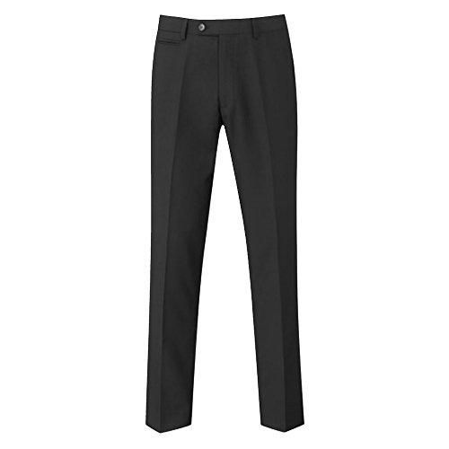 Skopes Herren Madrid Flache Front formale Arbeit/Anzughosen (42/L) (Schwarz)