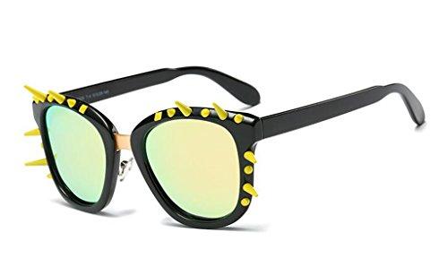Qqb bicchieri occhiali da sole polarizzati a rivetti occhiali da sole a punk retrò occhiali polarizzati ad alta definizione polarizzati -x565 (colore : c)