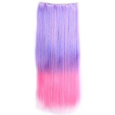 GANTA @ ombre sintetico perruque gerade natürliche Haar Toupet Kostüm synthetischen Haarclip in den Haarverlängerungen , 22 (Männer College Kostüme)