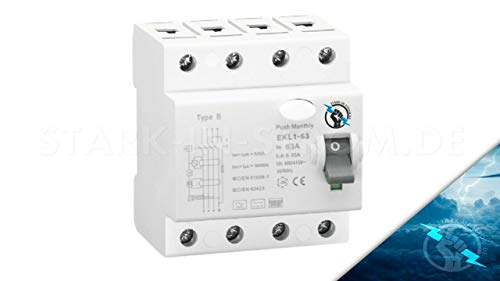 FI/RCD Typ B -Allstromsensitiv- 63A 4-Polig 0,03A / 30mA / E-Mobility