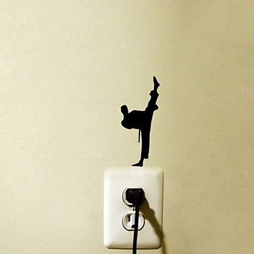 lsweia 7pcs Chinesische Kung Fu Legende Karate Zeichen Wandaufkleber Schalter Aufkleber