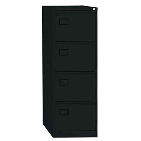 Bisley AOC4-av1-001 1321x470x622mm Flush Front Cabinet with 4 Filing Drawers - Black